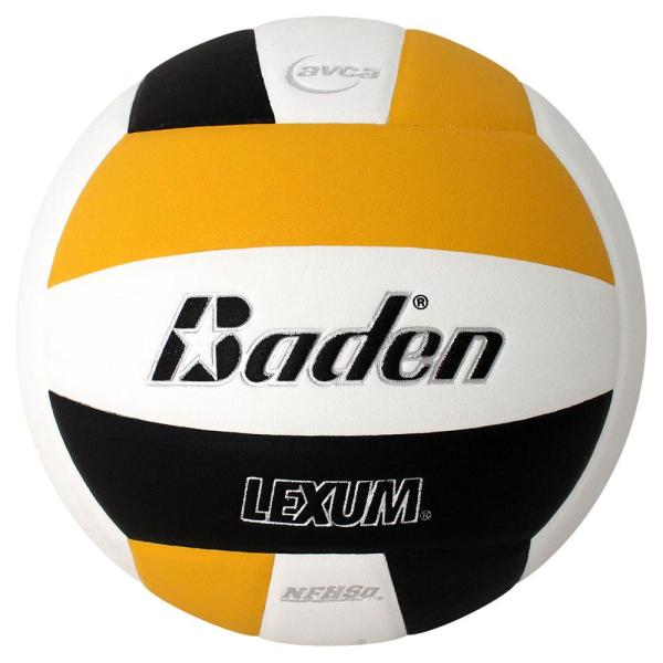 Baden Lexum Microfiber Volleyball Black White Yellow