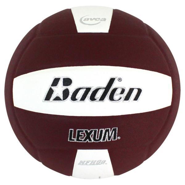 Baden Lexum Microfiber Volleyball Maroon White