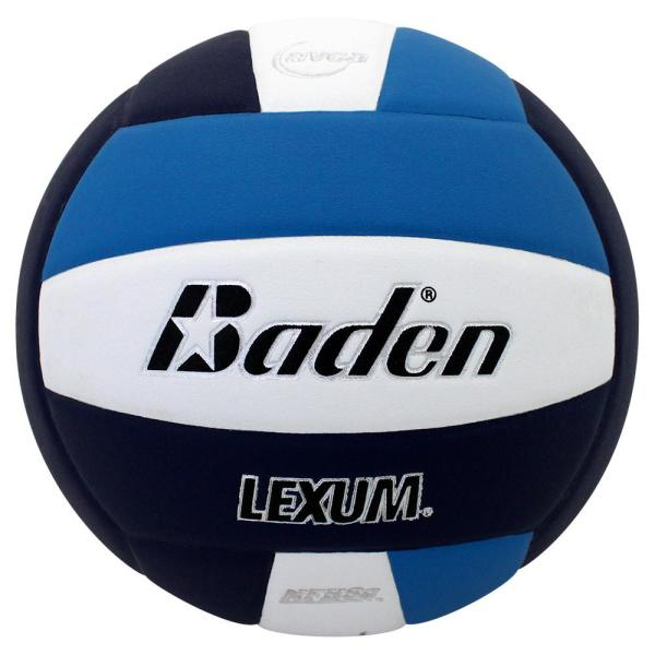 Baden Lexum Microfiber Volleyball Navy White Aqua