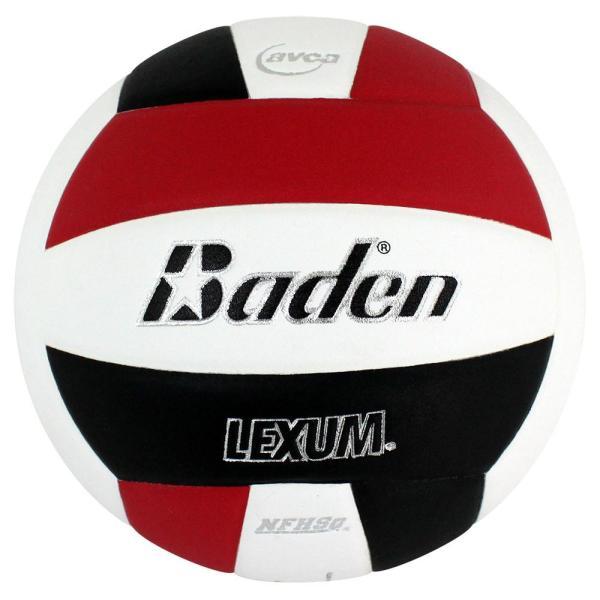 Baden Lexum Microfiber Volleyball Red White Black