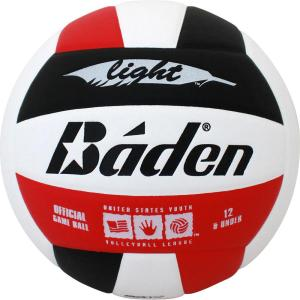 Baden U12 Light Microfiber Volleyball Red White Black