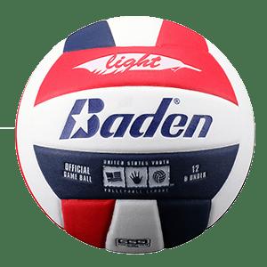 Baden U12 Light Microfiber Volleyball Red White Blue