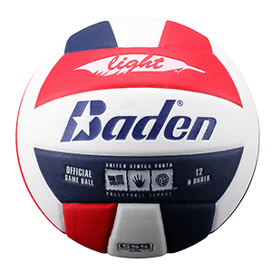 Baden U12 Light Microfiber Volleyball Red White Blue