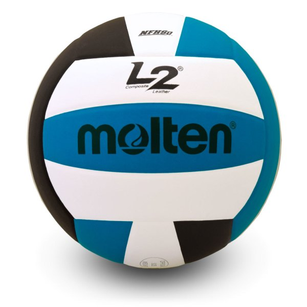 Molten L2 Microfiber Composite Club Ball Black White Aqua