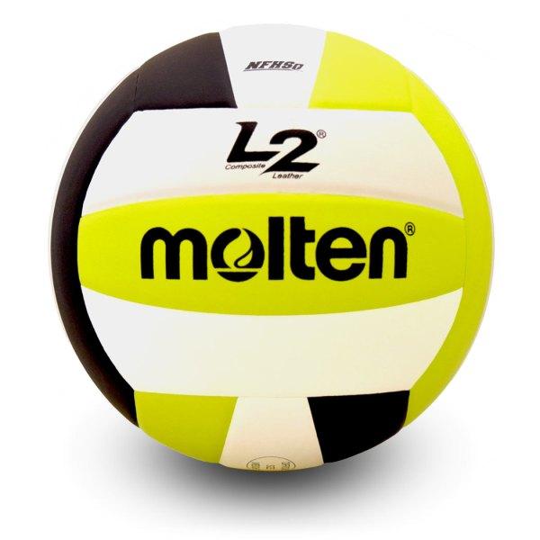 Molten L2 Microfiber Composite Club Ball Black White Lime