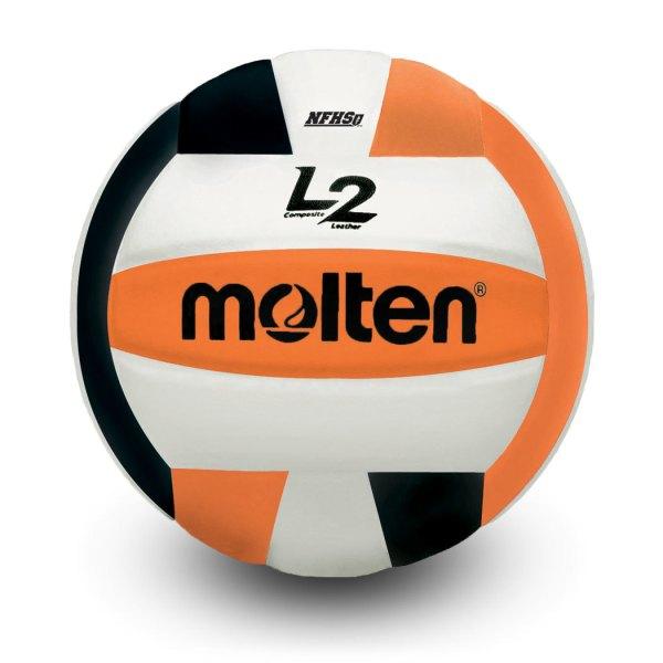 Molten L2 Microfiber Composite Club Ball Black White Orange