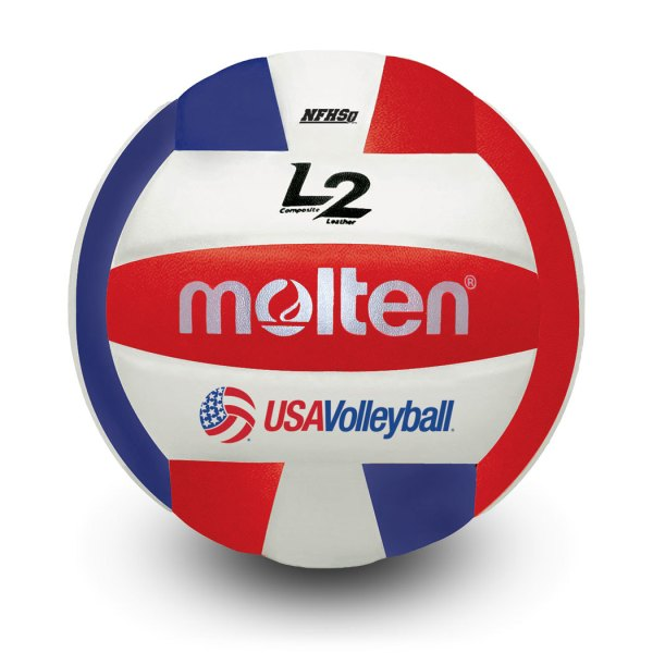 Molten L2 Microfiber Composite Club Ball Red White Blue