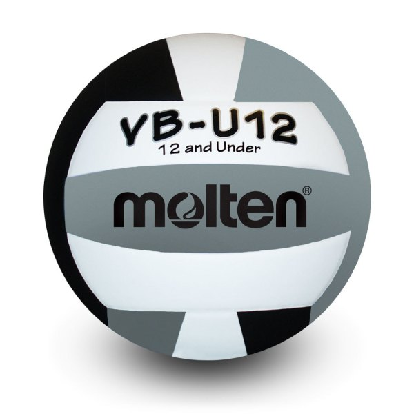 Molten U12 Microfiber Light Ball Black White Silver