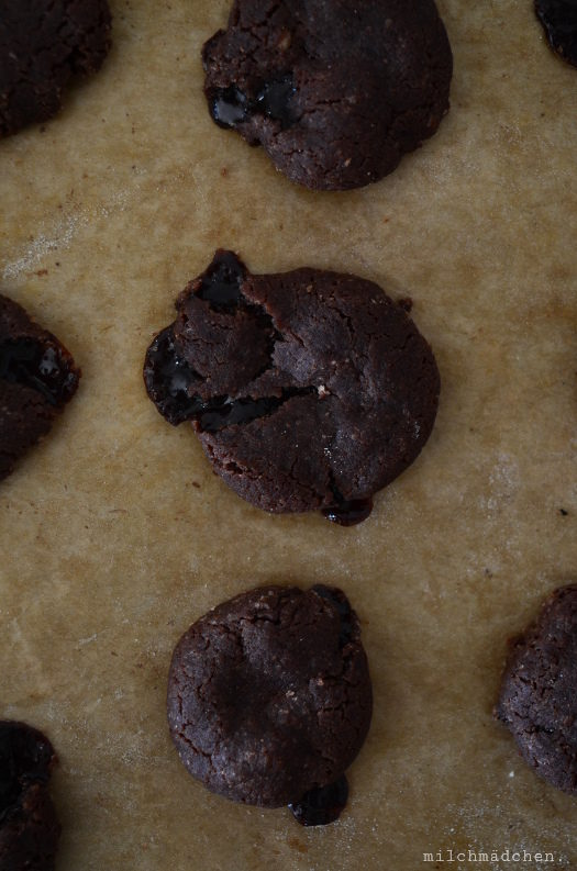 (T)olle Ka(ra)mellen: Schoko-Cookies mit Karamellkern