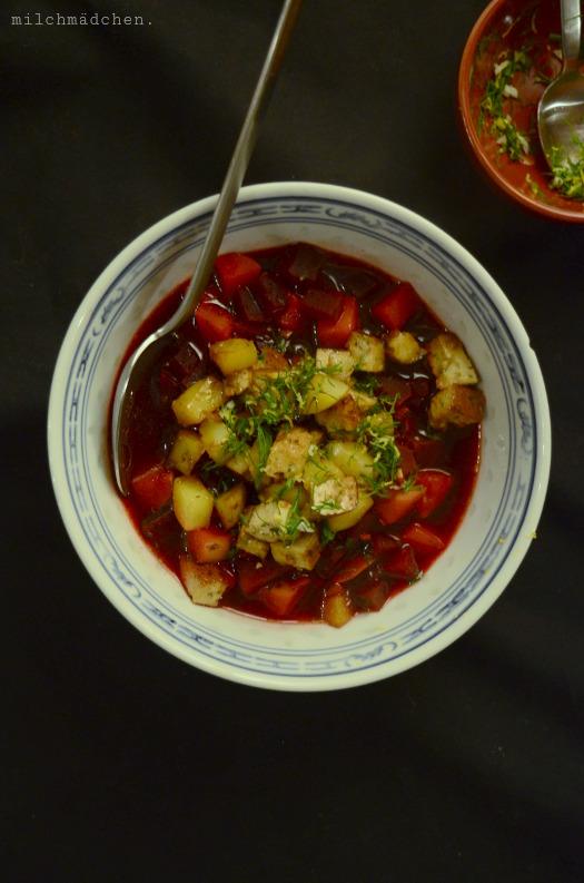 Rote-Bete-Eintopf mit Dill-Gremolata | milchmädchen.