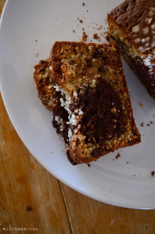 Marbled Chocolate and Hazelnut Cake nach Philippe Conticini & Thierry Teyssier | milchmädchen.