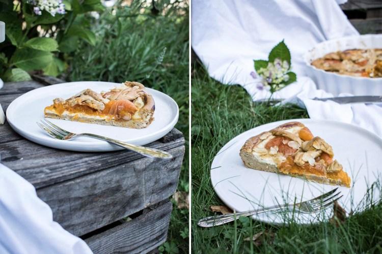 Marillen-Tarte-Kuchenstück