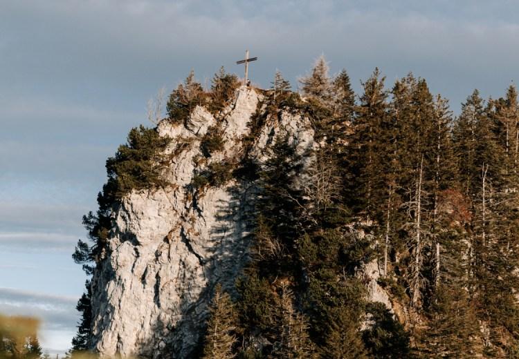 Blick auf den Bocksberg vom Sattel aus.