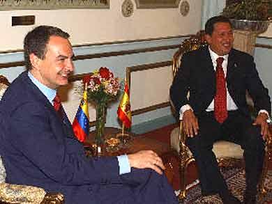 Visita de Chávez a Madrid