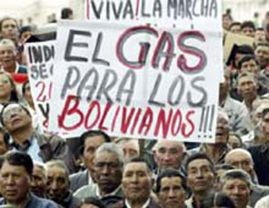 Nacionalización del gas boliviano