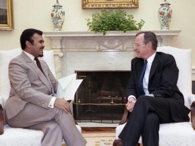 Saudi Prince Bandar with George Bush senior