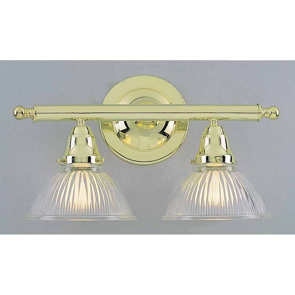 V1632 2 2 light polished brass bathroom vanity volume lighting home aloadofball Image collections