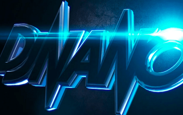 Dj Nano Logo Animation Nano Blue Neon Volumetricks