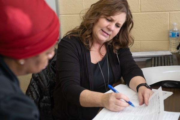 Vickie Mills volunteering for FREE Tax Prep