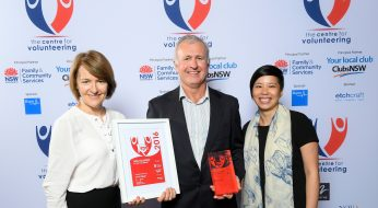 L-R Lesley Morgan, Dr David Digges & Wendy Chin from National Dental Foundation.