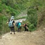 trek, down the unending stone steps