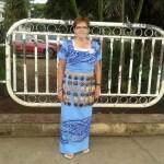 VICS volunteer wearing Tongan style dress