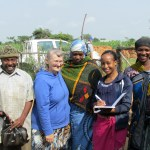Gerry, VICS volunteer with staff and people from village