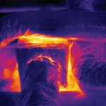 Thermal Image of significant energy loss at return trunk.