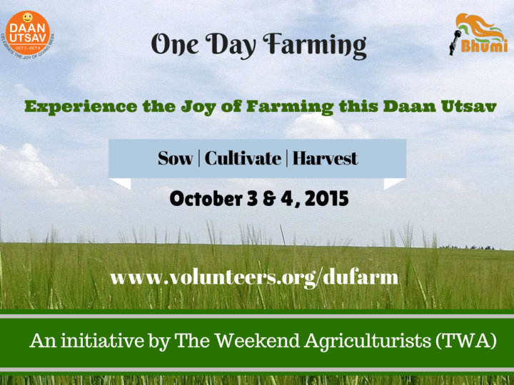 An initiative by The Weekend Agriculturists