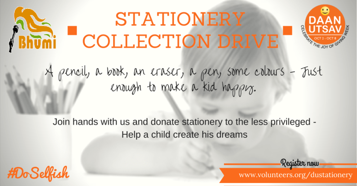 Stationery collection drive