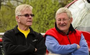 Initiativtagarna Jan Nilsson och Tommy Hemert efter välförättat värv
