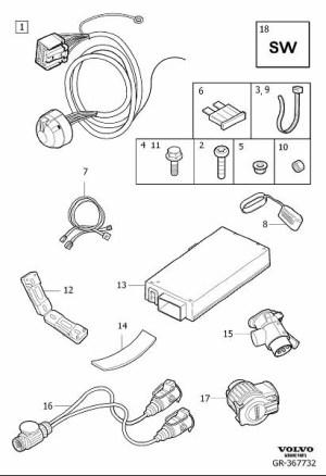 31346526  Volvo Wiring harness   Volvo Parts Webstore, Oak Park IL
