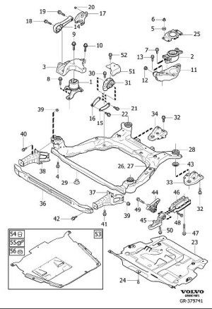 S40 Engine Mounts Diagram, S40, Free Engine Image For User Manual Download