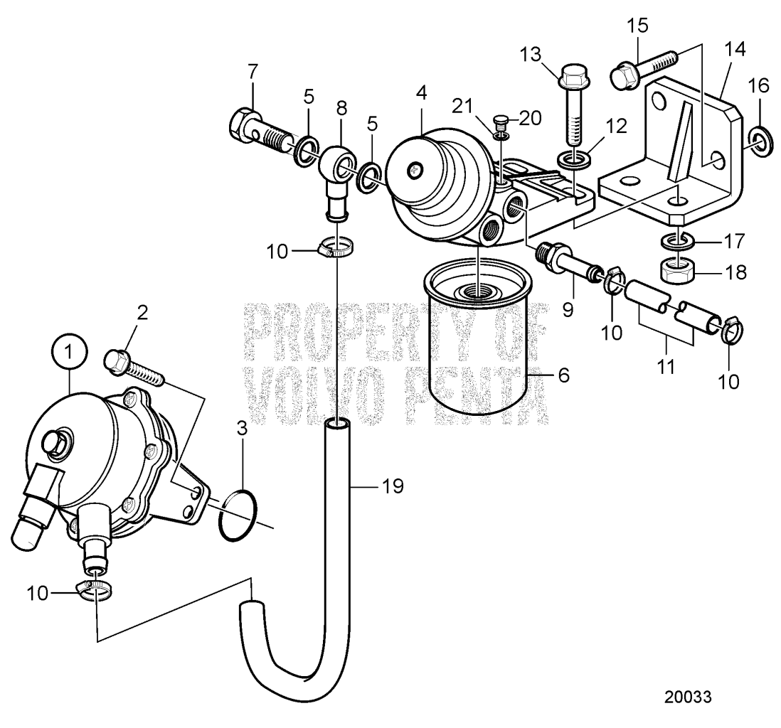 Fuel Filter And Feed Pump D2 75f