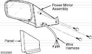 Volvo 850 power mirrors service manual
