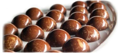 Bombons de chocolate resfriados