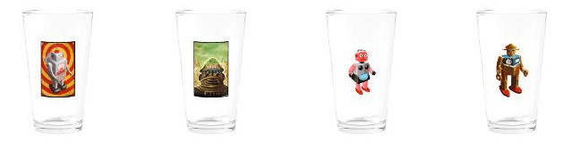 Robot Invasion! Beer Glasses by D.VonSeggen