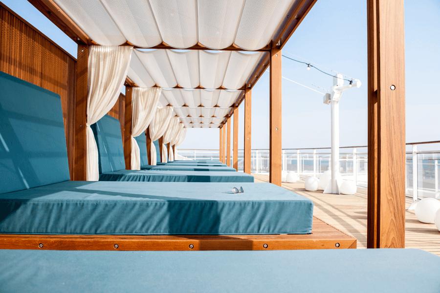 VONsociety: Asien Kreuzfahrt, Europa 2, Daybed © Hapag-Lloyd Cruises