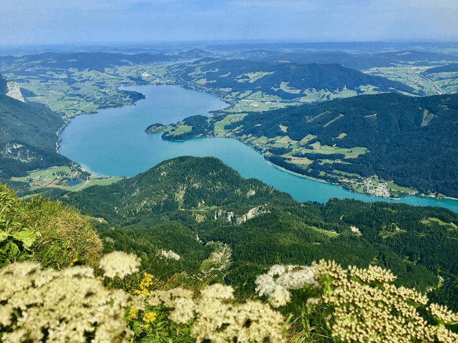 VONsociety: Aussicht vom Schafberg über den Wolfgangsee