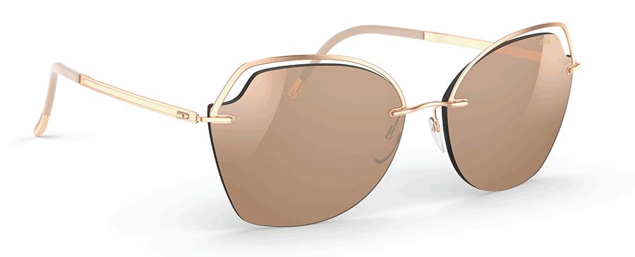 VONsociety: Produktbild der Silhouette Golden Gate Glossy Caramel Sonnenbrille