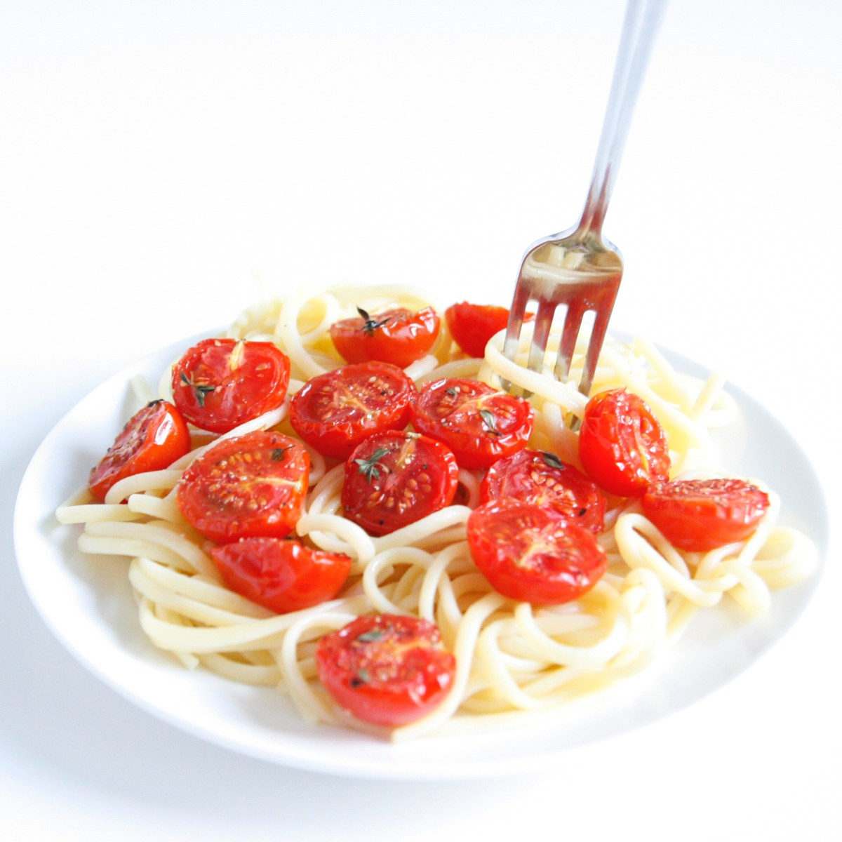 Pasta oven roasted tomatoes