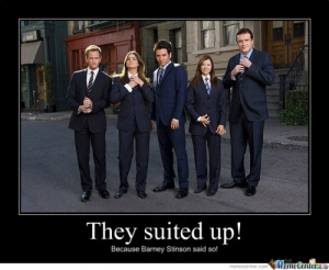 suit up HIMYM