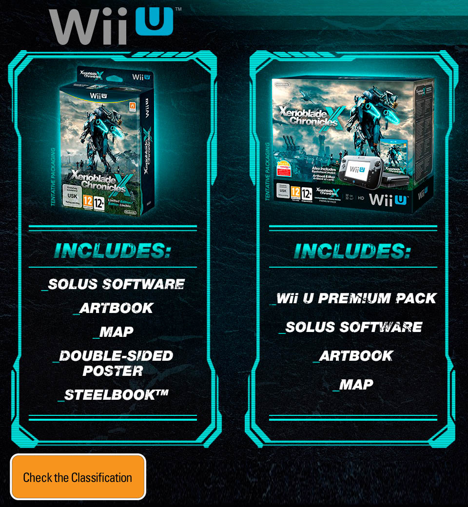 Xenoblade Chronicles X Limited Edition & Wii U Premium Pack