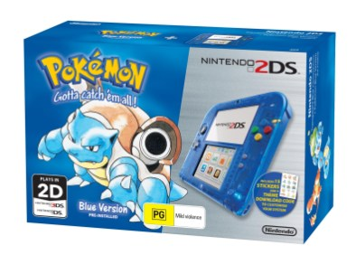 Nintendo 2DS Special Edition bundle (Pokémon Blue Version)