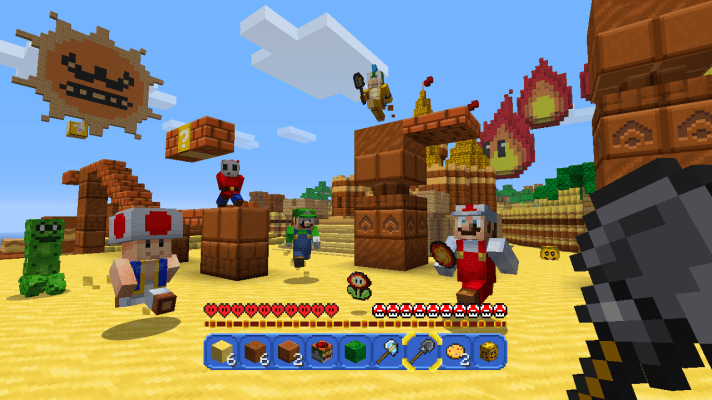 Super Mario Mash-Up coming to Minecraft for Wii U with free update