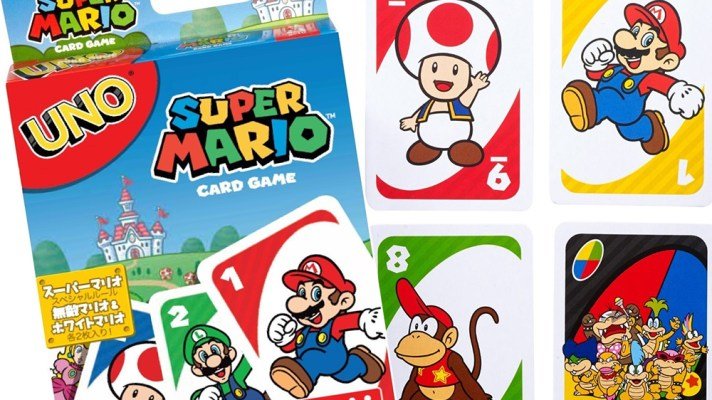 Super Mario themed UNO cards coming to Japan