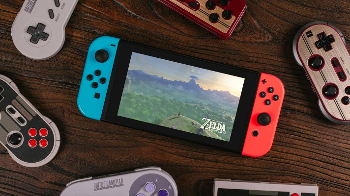 Retro styled 8Bitdo controllers now work with the Nintendo Switch