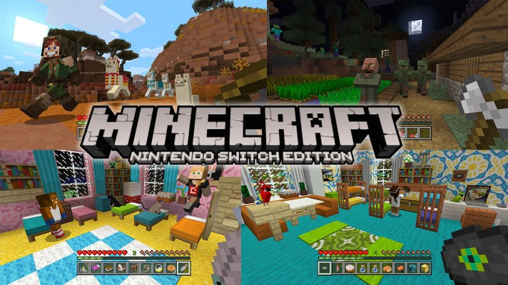 Minecraft Update Coming Today for Switch and Wii U