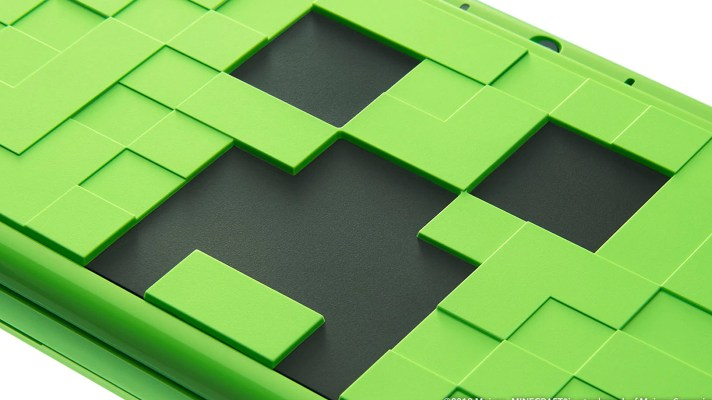 Japan gets three new 2DS XL designs, including a Minecraft Creeper Edition