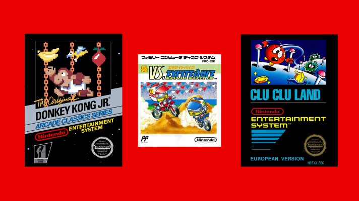 Donkey Kong Jr, VS. Excitebike and Clu Clu Land are your NES Online titles for May